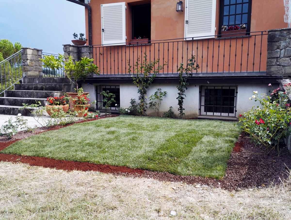 Realizzazione e manutenzione di tappeti erbosi a Firenze.